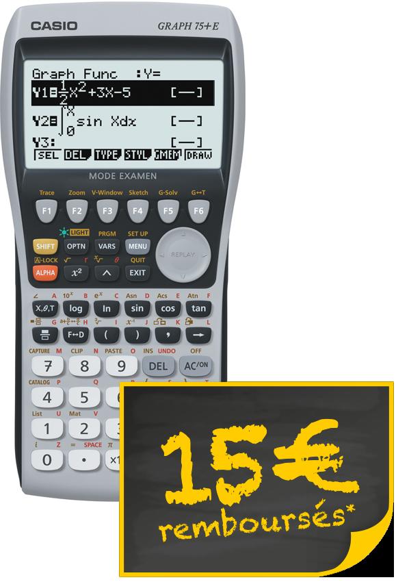 ODR CASIO 2016 Graph 75+E avec TS PROMOTION